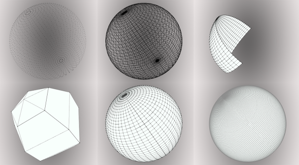 Different sphere resolution / portion / rendering
